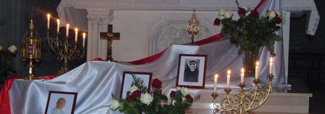 St Jean-Paul II - Bhx M.Sopocko - Ste Faustine - Eglise de Loiré -