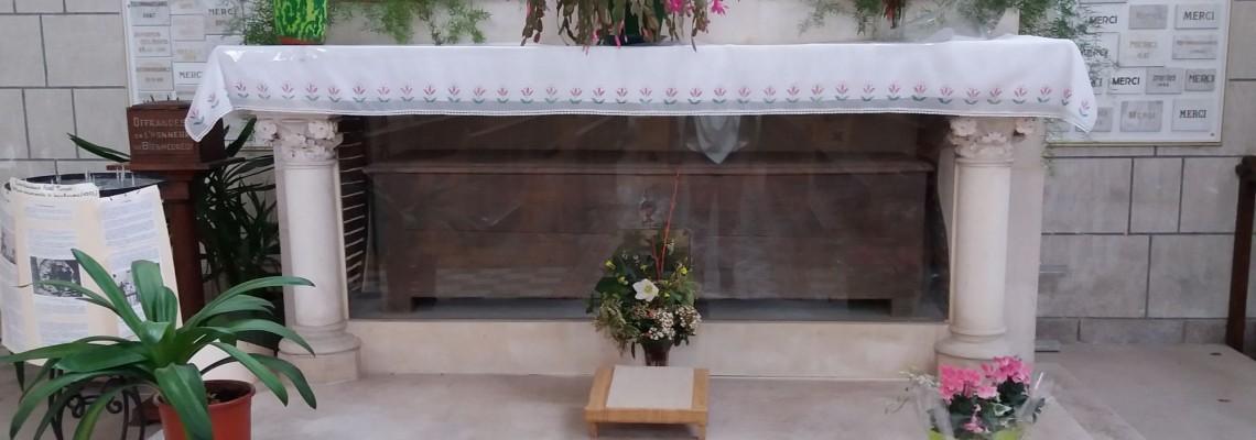 Huche à Pain où a été caché Bhx Noël Pinot avant son arrestation (Eglise du Louroux-Béconnais)